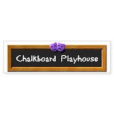 Chalkboard Playhouse Bumper Bumper Sticker