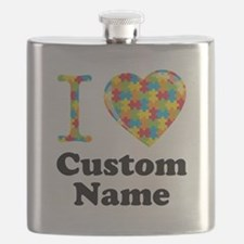 Autism Heart Flask