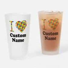 Autism Heart Drinking Glass
