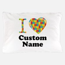 Autism Heart Pillow Case