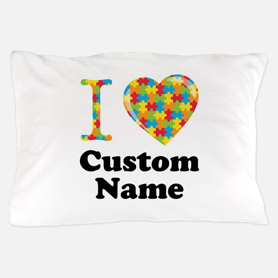 Autism Heart Pillow Case