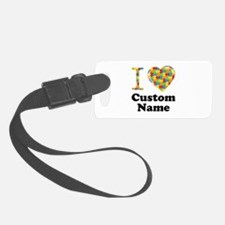 Autism Heart Luggage Tag