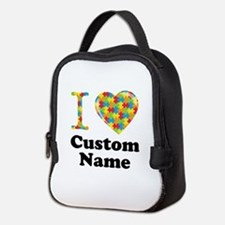 Autism Heart Neoprene Lunch Bag