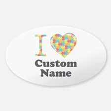 Autism Heart Sticker (Oval)