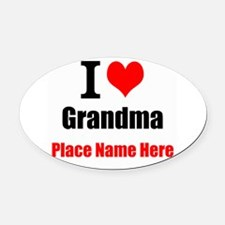 I Love Grandma Oval Car Magnet