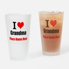 I Love Grandma Drinking Glass