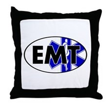 EMT Oval w/SOL Throw Pillow