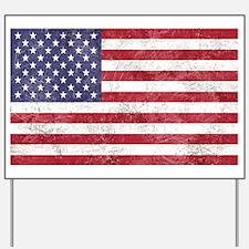 Vintage American flag Yard Sign