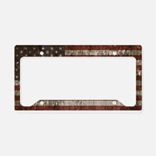 Vintage American flag licence plate cove License P
