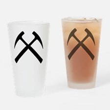 Crossed Rock Hammers Drinking Glass