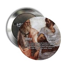 Plato Aristotle Philosophy Button