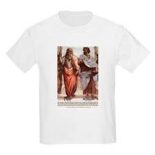 Plato Aristotle Philosophy Kids T-Shirt