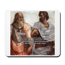 Plato Aristotle Philosophy Mousepad