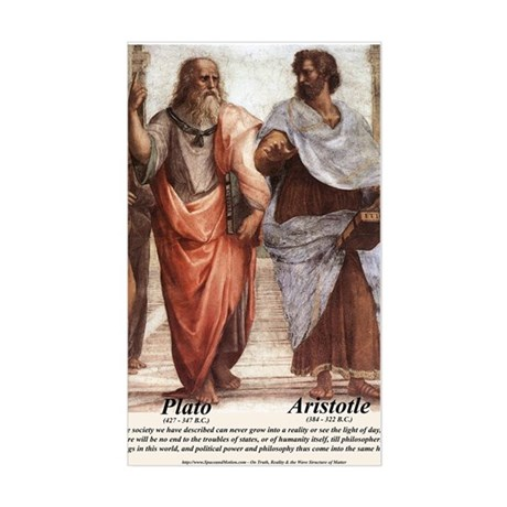 Plato Aristotle Philosophy Rectangle Sticker
