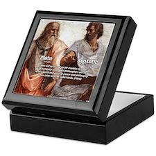 Plato Aristotle Philosophy Keepsake Box