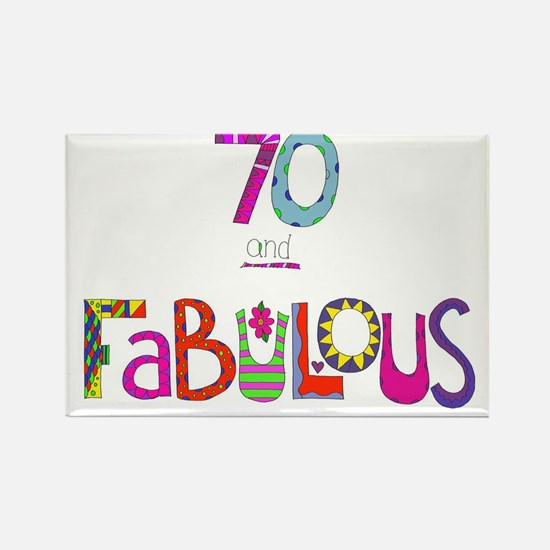 Cute Happy 70th birthday Rectangle Magnet