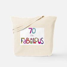 Cute Happy 70th birthday Tote Bag