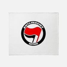Anti-Fascist Action Throw Blanket