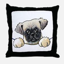 Pocket Pug Puppy Throw Pillow