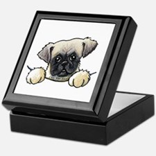 Pocket Pug Puppy Keepsake Box