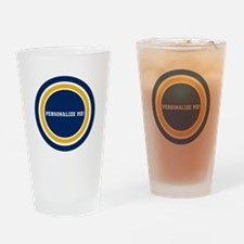 Blue and Gold Team Colors to Custom Drinking Glass