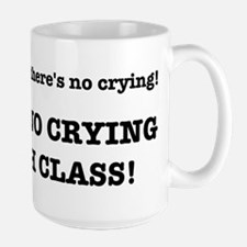 There's No Crying in Math Class Large Mug