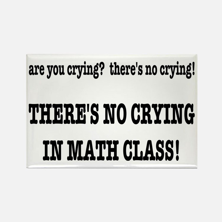 There's No Crying in Ma Rectangle Magnet (10 pack)