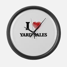 I love Yard Sales Large Wall Clock