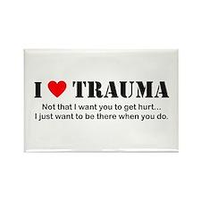 I [heart] Trauma Rectangle Magnet