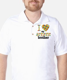 Autistic Brother Golf Shirt
