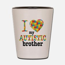 Autistic Brother Shot Glass