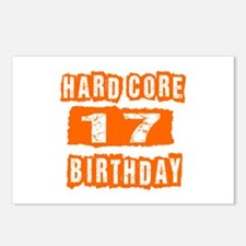 Hard Core 17 Birthday Postcards (Package of 8)