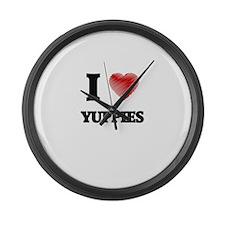 I love Yuppies Large Wall Clock