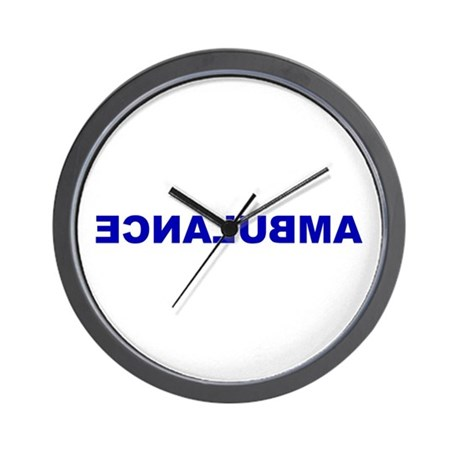 AMBULANCE [backward] Wall Clock