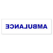 AMBULANCE [backward] Bumper Car Sticker
