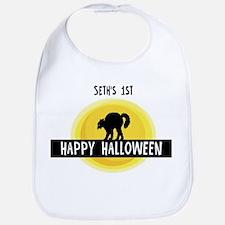1st Halloween: Seth Bib