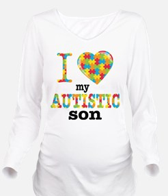 Autistic Son Long Sleeve Maternity T-Shirt