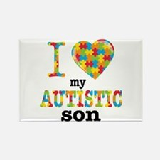 Autistic Son Rectangle Magnet