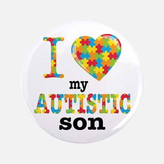 Autistic Son Button
