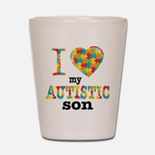 Autistic Son Shot Glass