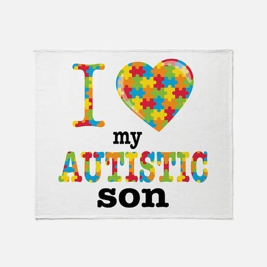 Autistic Son Throw Blanket