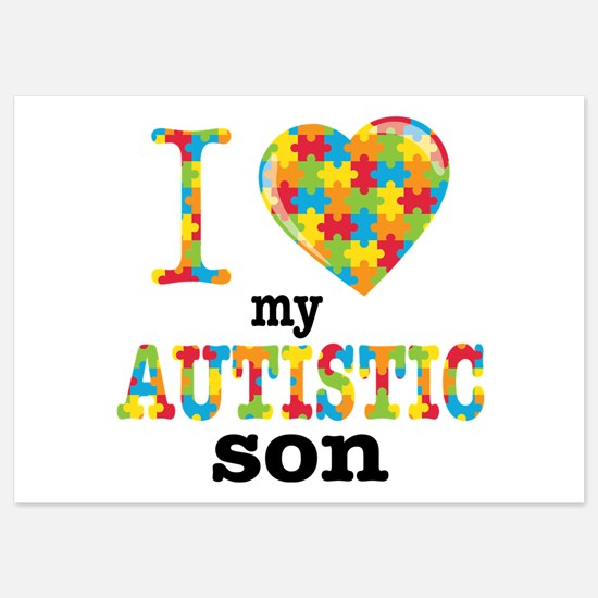 Autistic Son 5x7 Flat Cards