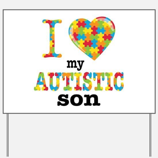 Autistic Son Yard Sign