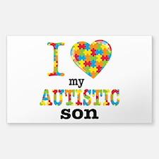 Autistic Son Sticker (Rectangle 10 pk)