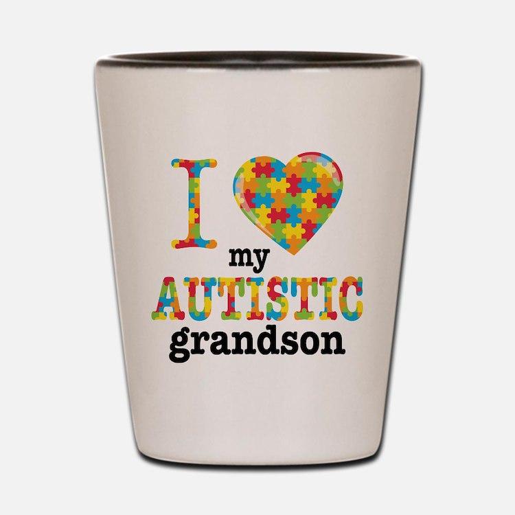Autistic Grandson Shot Glass
