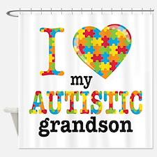 Autistic Grandson Shower Curtain
