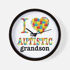 Autistic Grandson Wall Clock