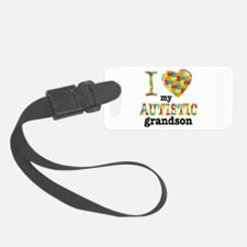 Autistic Grandson Luggage Tag