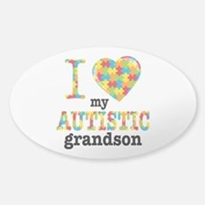 Autistic Grandson Sticker (Oval)