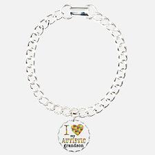 Autistic Grandson Charm Bracelet, One Charm